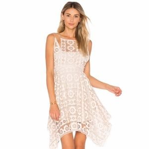 Free People Just Like Honey Lace Asymmetric Dress