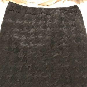 Black Houndstooth Skirt Size 14 Merona EUC