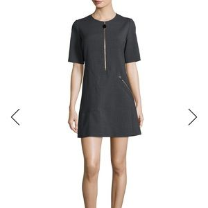 Stella McCartney Short-Sleeve Zipper Mini Dress