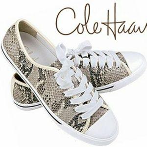 COLE HAAN Snake Print Sneakers 11B