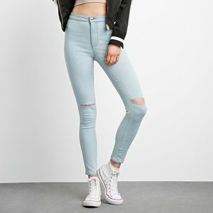 Forever 21 ripped Blue jean (US 28)