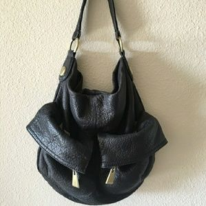 Cynthia Rowley Black Leather Bag