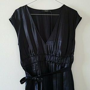 Max Mara Weekend 100% silk black dress