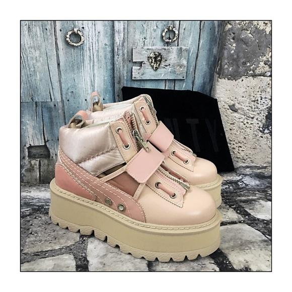 e93d51110c64 Fenty Puma X Rhianna Pink Strap Sneaker Boots