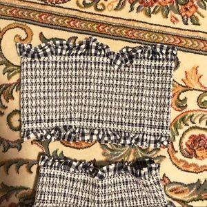 83d02f33ba2 Zara Dresses - Zara two-piece matching gingham set size Small