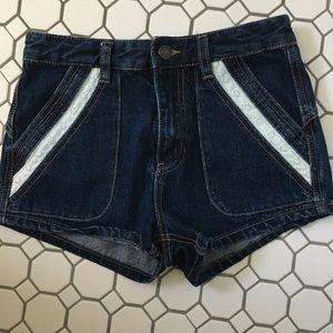 Free People High Waisted Denim Shorts