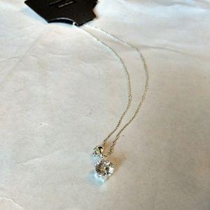 New beautiful 2 carat cubic zirconia necklace