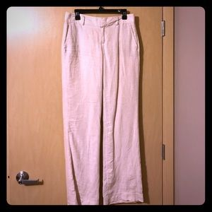 Linen striped dress pants