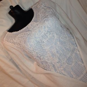 CHICO'S LONG SLEEVE SWEATER SIZE 1 WHITE