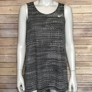 {nike} black and white Dri-Fit athletic tank