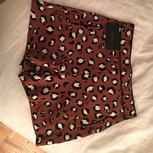 NWT Zara leopard shorts