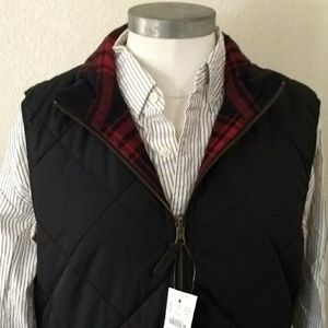 Medium Reversible plaid vest