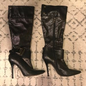 🔥 Guess by Marciano Leather Bronze Knee High Boot