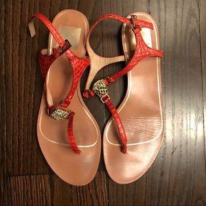 Dolce Vita Orange Snakeskin Isolde Sandal