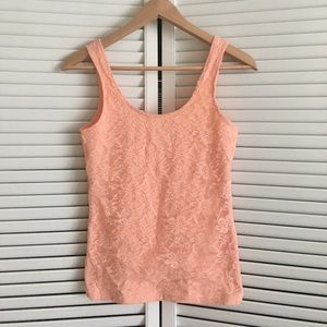 New condition peachy lace top