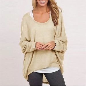 Sweaters - Beige oversized sweater