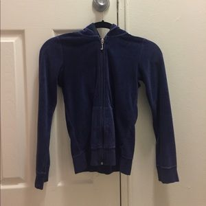 Size Sm Juicy Couture Navy Velour zipup