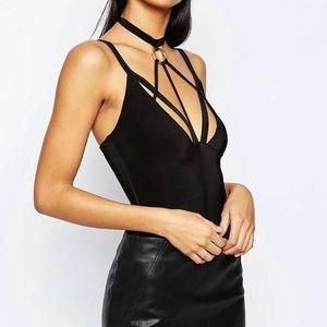 ASOS Black Harness Bodysuit