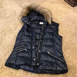 Navy Blue Puffy Vest