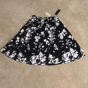 Full pleated midi skirt