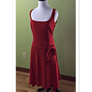 Unger Orange Wool Sleeveless Dress Asymmetrical 12