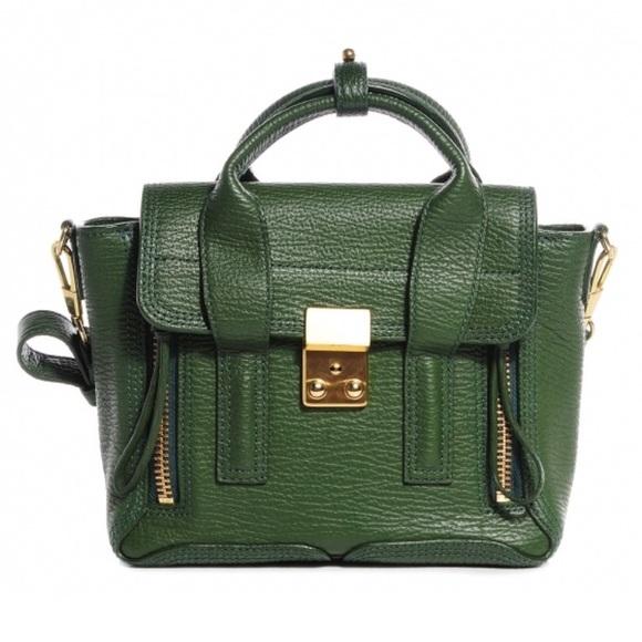 8722ff06a 3.1 Phillip Lim Bags | 31 Phillip Lim Mini Pashli Satchel Jade Green ...