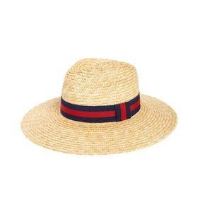 Bp wide brim Straw hat. One size