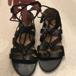 Never worn gladiator tie up sandals