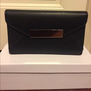 Black & Gold Clutch w/ removable straps