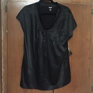 DKNY Black Silk Top