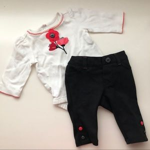 Gymboree Poppy Infant Outfit