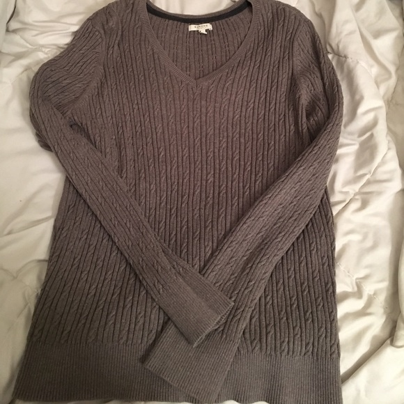 50% off Sonoma Sweaters - Cute brown cable knit sweater. from ...
