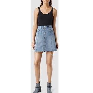 allsaints denim skirt! barely used!