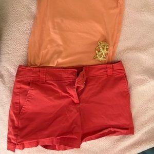 Orange Tailored Shorts