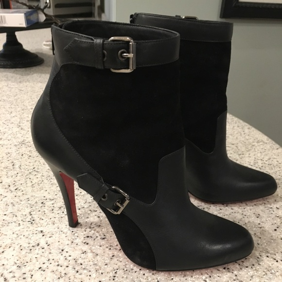 promo code 1851a be928 Christian Louboutin Blk Stiletto Boots 36 ½ 6.5