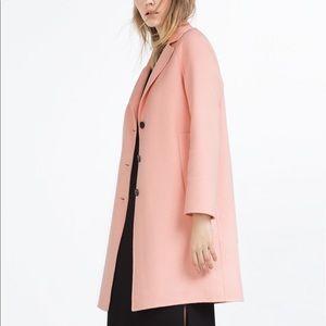 🎟 Zara Pink Wool Coat 🎟
