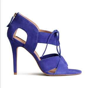 New H&M Premium suede heels