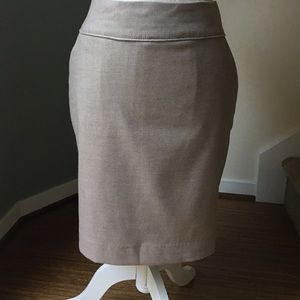 H&M Taupe Pencil Skirt