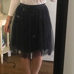 French connection navy blue tulle skirt