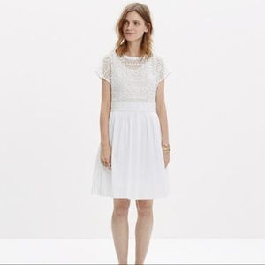 Madewell Geo Lace White Dress