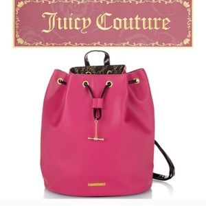 New Juicy Couture Hot Pink Backpack purse bag