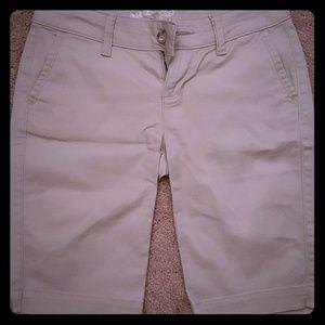 Long khaki shorts