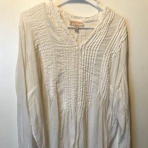 White cotton/linen blend