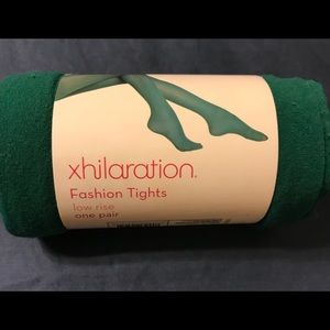 Green Fashion Tights. NWT.