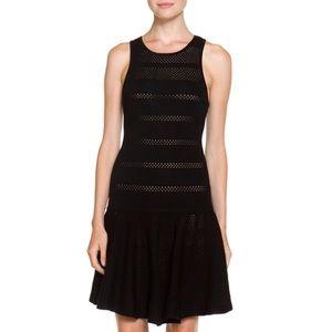 Alice + Olivia Cecile Dress Black Wool Drop Waist