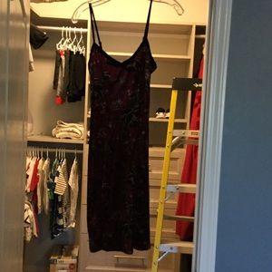 Betsey Johnson velvet flower dress