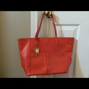 Ralph Lauren large leather tote bag