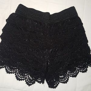 Dressy lined lace shorts