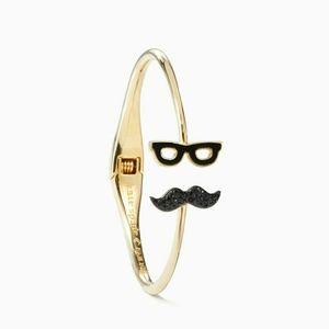 Kate Spade mustache glasses bangle