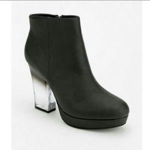 UO Deena + Ozzy ombre lucite heel platform booties